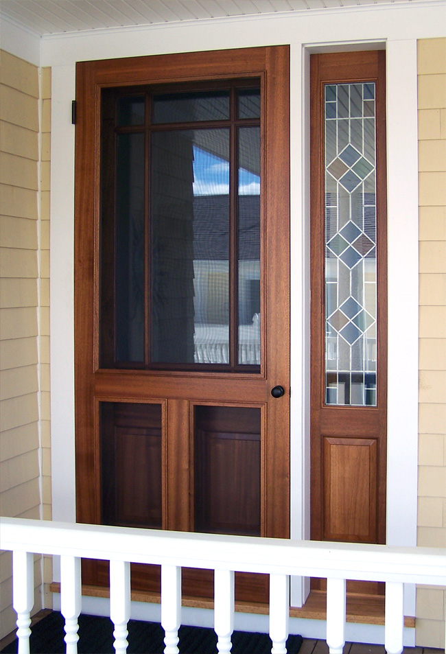 Wood Screen Doors With Removable Screens : Home entrance door screen